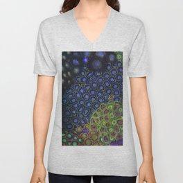 """Macro of Coral Zoanthus """"Blue Hornet"""" Unisex V-Neck"""