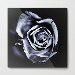 Silver Petals Metal Print
