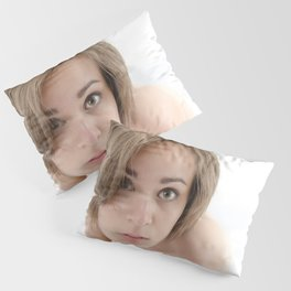 9360-KMA Brown Eyed Girl Kneeling Nude on Mirror Pillow Sham