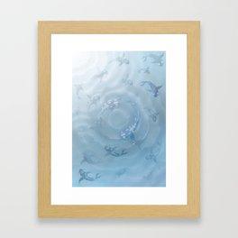 Koi Fish Aquarium Framed Art Print