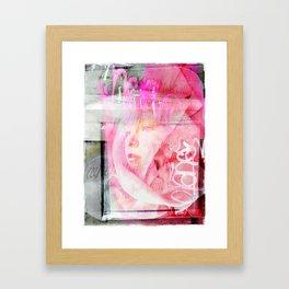 Pink Reveiled Framed Art Print
