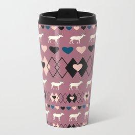 Romantic decor with deer in purple Metal Travel Mug