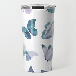 Watercolor Butterflies Travel Mug