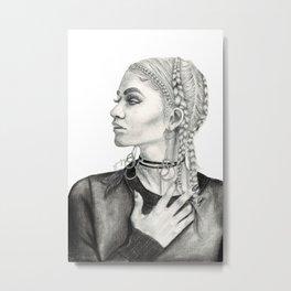 Zendaya Metal Print