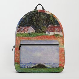 Poppy Field at Giverny by Claude Monet Backpack