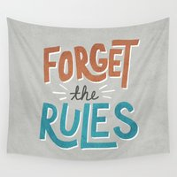anarchy Wall Tapestries featuring Forget the Rules by Zeke Tucker