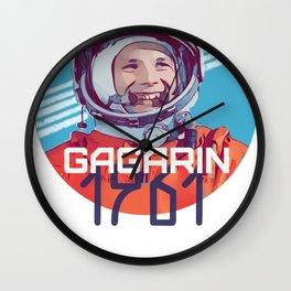 Yuri Gagarin first man in space Wall Clock