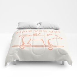 Shiba Dog -Orange- Comforters