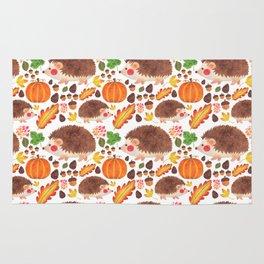 Autumn Hedgehog Rug