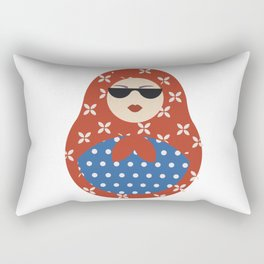 Modern Russian Matryoshka doll Rectangular Pillow