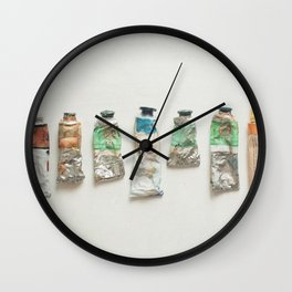 Oil Paints Wall Clock