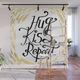 Hug Kiss Repeat Wall Mural