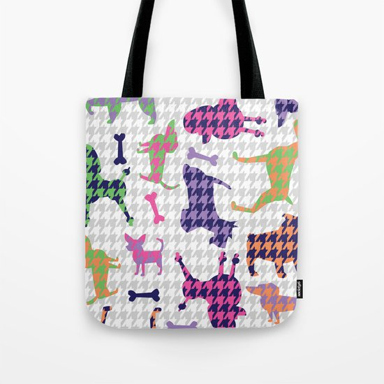 Houndstooth Hounds Tote Bag