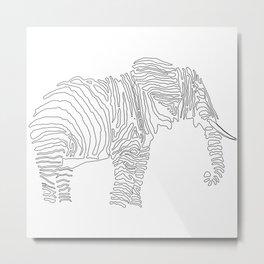 The Walking Elephant Metal Print