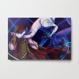 Viktor and the Dragon Metal Print