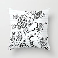 henna Throw Pillows featuring Henna by Saintgello