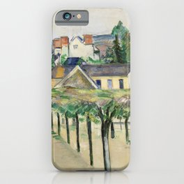 Village Square (Place de village) (ca.1881) by Paul Cézanne. iPhone Case