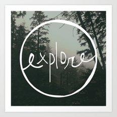Explore Oregon Forest Art Print