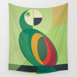 Mid Century Parrot Wall Tapestry