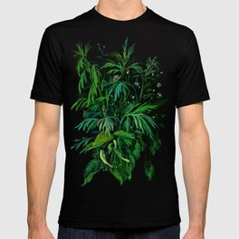 Summer Greenery, Green & Black T-shirt