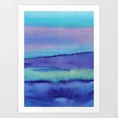 Watercolor abstract landscape 04 Art Print