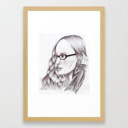 Ingrid Michaelson Drawing Framed Art Print