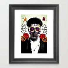Musician Sugar Skull Painting Framed Art Print