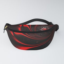 Flame Red Abstract Whirl Fanny Pack