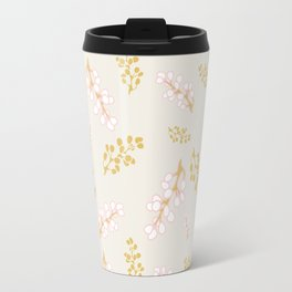 Garden Swirl Collection - Pink & Yellow Bouquet Bits Travel Mug