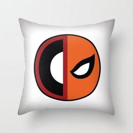 Wilson VS Wilson (Deadpool Deathstroke) Throw Pillow