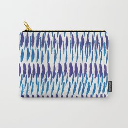 Blue and Purple watercolor brush lines Carry-All Pouch