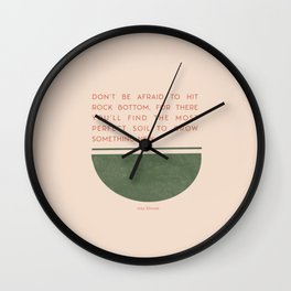 Rock bottom Wall Clock