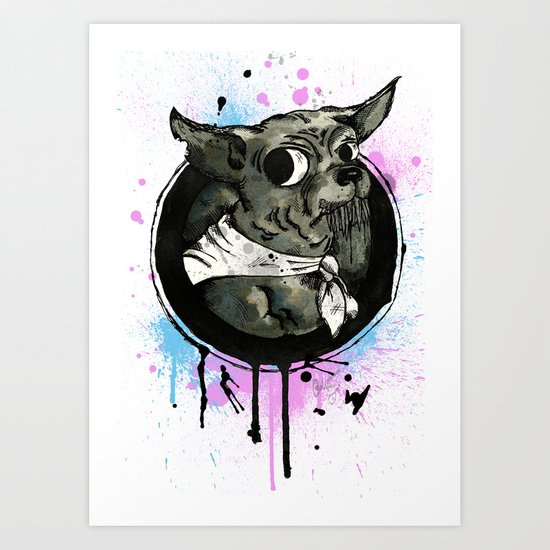 Ickle Dog Art Print