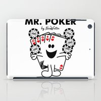 poker iPad Cases featuring Mr Poker by NicoWriter
