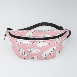Cat Pattern - Pink Fanny Pack