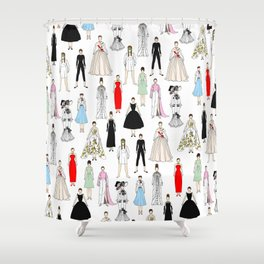 Audrey Fashion Whimsical Layout Shower Curtain