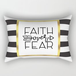 Faith Over Fear Quote Rectangular Pillow