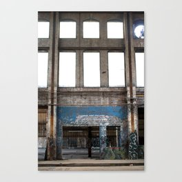 Windows Graffiti Wall Canvas Print