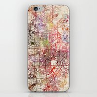 minneapolis iPhone & iPod Skins featuring Minneapolis by MapMapMaps.Watercolors