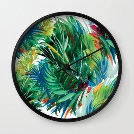 Tropical Watercolor Pattern Wall Clock