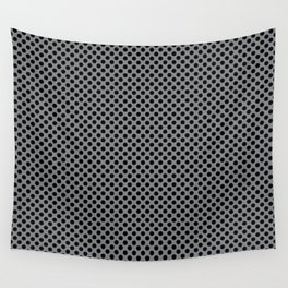 Sharkskin and Black Polka Dots Wall Tapestry