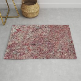 Japanese Handcrafted Dyed Paper Abstract Texture Rug