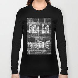 Slam 1 Industries Ransom Note B/W Long Sleeve T-shirt