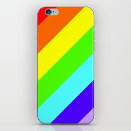 Stripes Diagonal Rainbow iPhone Skin
