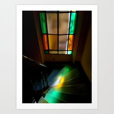 Light in the stairs Art Print