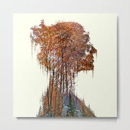 Nature Woman Metal Print
