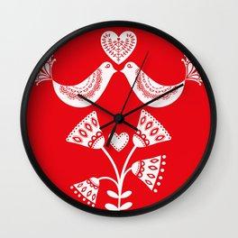 Scandinavian Christmas 01 Wall Clock