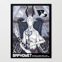 baphomet Canvas Prints featuring Baphomet by madbaumer37
