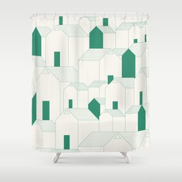 Hill Houses Shower Curtain