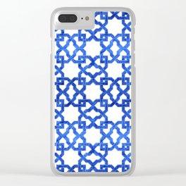 Geometric Pattern - Oriental Design rmx Clear iPhone Case